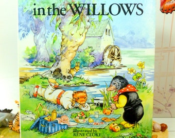 Vintage Book The Wind in the Willows Beautifully Illustrated by Rene Cloke Collectible Hardback with Dust Wrapper 1st Ed
