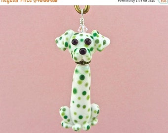 Spring Sale Dalmatian Dog Ornament  SALE 25% OFF - Handmade Lampwork Creation SRA