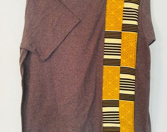 African accented t-shirt - brown