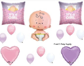 It's A Girl  Balloons Decorations Supplies Baby Shower