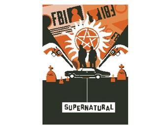 Buy 2 Get 1 Free-Modern cross stitch pattern-PDF pattern-Supernatural-Sam-Dean-TV Show-Winchesters-Best gift-decor-Instant Download-P-24