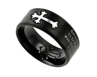 """Black Neo Ring """"Greater"""