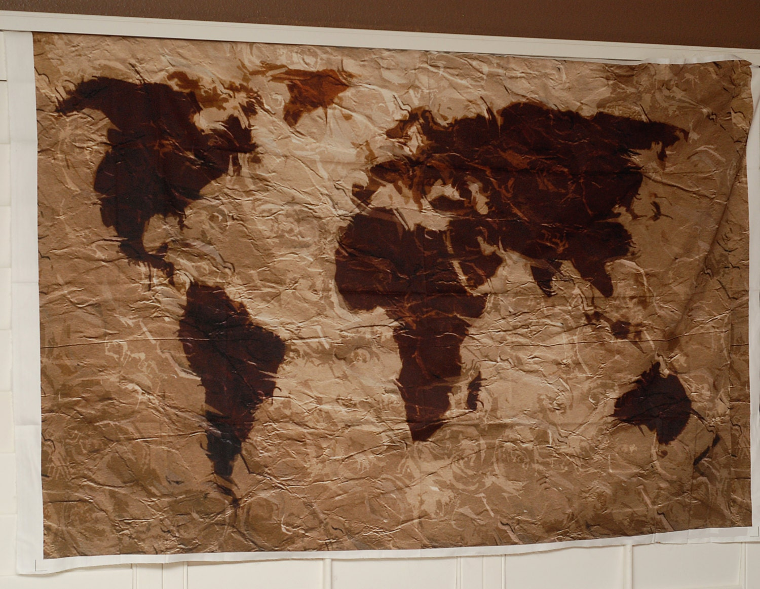 World map tapestry rustic fabric art print wall hanging zoom gumiabroncs Choice Image
