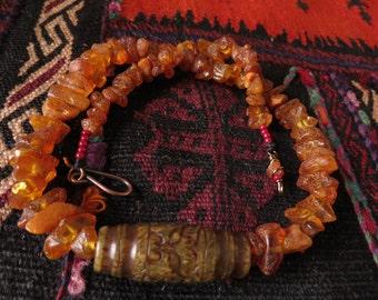Baltic amber Jade pendant necklace FREE SHIPPING WORLDWIDE
