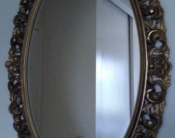 Mirror Large Gold Ornate Vintage Mirror Hollywood Regency Mirror