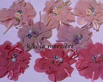 organza flowers to sew or paste set of 8 flowers about 8 cm in diameter
