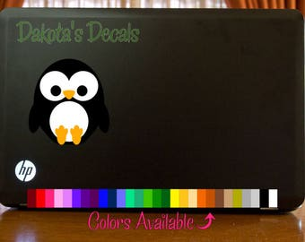 Cute Penguin Laptop Decal