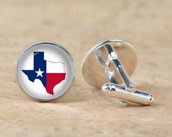 Texas Flag cuff links ,US Texas State Flag cufflinks,American Texas  Flag Men women accessories