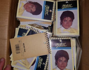 Michael Jackson Thriller Wire Bound Note Books lot 10 pieces Mint old warehouse stock UNUSED