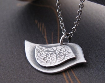 Personalized Mama Bird Necklace - handcrafted in sterling silver by Modern Bird - jewelry mothers day