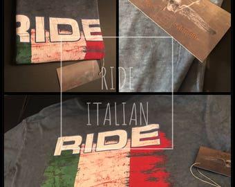 Motorcycle Gift-Motorcycle T-Shirt-Biker-Bike Shirt-Motorcycle Clothing-Motorcycle-Biker Gift-Motorcycle Shirts-RIDE ITALIAN