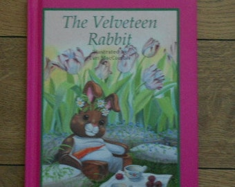 vintage 1991  THE VELVETEEN RABBIT hc children boy girl picture story book illustrated by Turi MacCombie