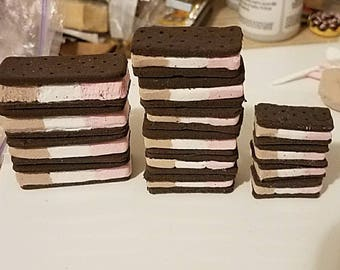 Miniature Neapolitan Ice Cream Sandwich - SD MSD YOSD