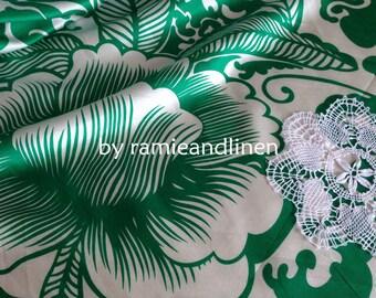"SALE, silk fabric, huge floral print silk cotton blend Silk cotton satin fabric, half yard by 55"" wide"