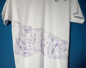 Hand-decorated T-shirt