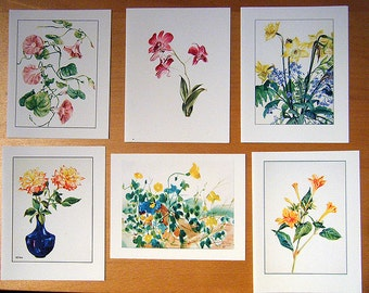 Set of 6 blank cards -Assorted Flowers_A