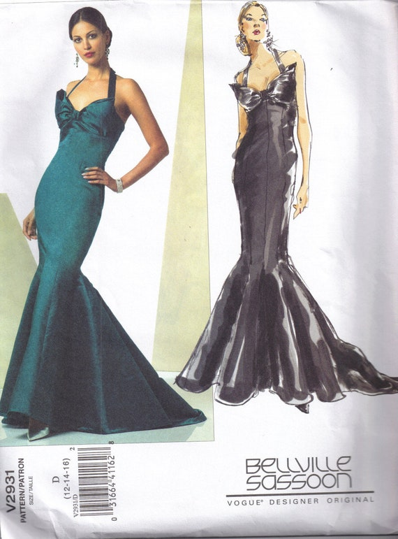Nähen Schnittmuster Meerjungfrau Kleid Damen Kleid Vogue 2931