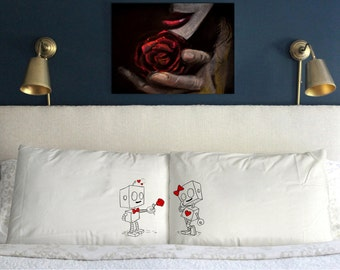 Robots in love Funny Valentine's day Wedding Perfect Couple Gift