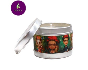 The choice wax plant Ribbon Frida Kahlo red and green candle gift Christmas birthday wedding mother's day