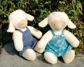 Lamb - PDF sewing pattern & tutorial softie stuffed animal toy doll