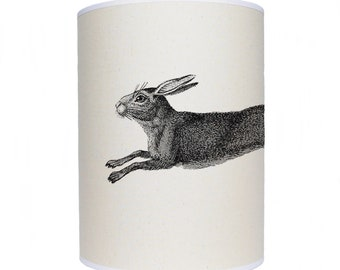 lamp shade/ ceiling light/ pendant light/ leaping hare shade/ drum lampshade/ lighting