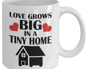 Tiny Home 11oz White Coffee Mug - Housewarming Gift Idea for Tiny Home Families