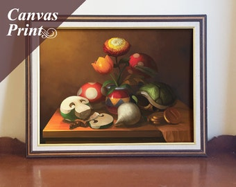 Canvas Mario Still Life Print