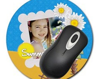Custom Personalized Photo Mouse Pad - Round
