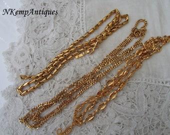 Vintage chain necklace x 3