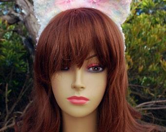 Multi Pastel Pop Fuzzy Bear Ear Headband