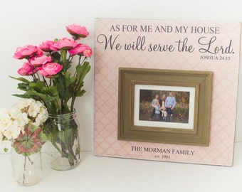 House warming Gift, As For Me and My House Sign,  Personalized Wedding Gift, Wedding Picture Frame, Wedding Gift, Personalized Frame,