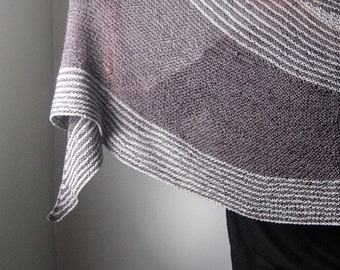 DISSENT Knitting Pattern PDF Fingering Weight Shawl