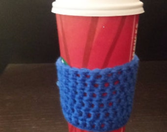Set of 4 coffee cozies in  various colors.