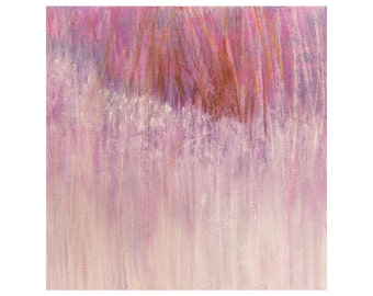 Abstract Painting, Pink Purple, Original Acrylic on 12x12 canvas, Minimalist Landscape Contemporary Art, Jessica Torrant lavender white