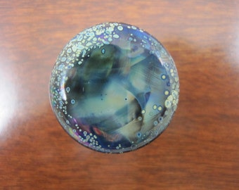 Hand Made Flamework Glass Knobs- Cosmos