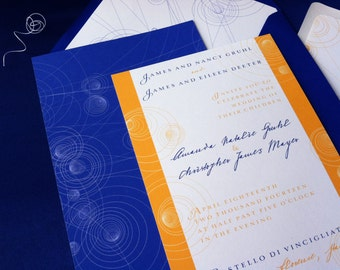 Neutrino Wedding Invitation Suite