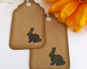 Easter gift tags, Bunny gift tags, Easter tags, set of 12