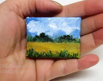 Miniature art, Miniature Painting, Landscape Painting, Original Painting, Wall art, Home Decor, Gift, Dollhouse, Dollhouse art, Winjimir,