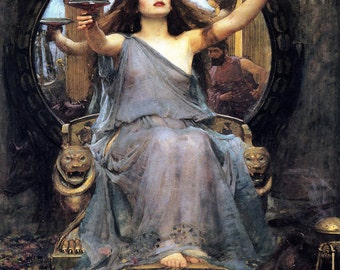 John William Waterhouse: Circe Offering the Cup to Ulysses. Fine Art Print/Poster (00833)