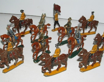 Vintage Lead Hourse Mounted Soldiers Barclay Manoil    **********1920's-1940's********