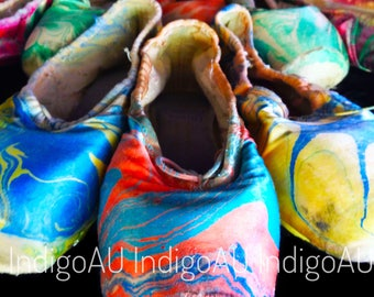 Pointe Shoe Photo Print - Red and Blue