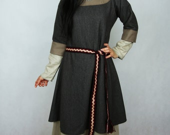 Ready for shipping!  The early medieval women's tunic for Slavonic / Rus women. SIZE S, M and L.Viking. Based on historical iconography.