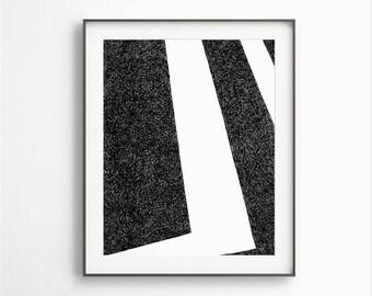 Black White Art, Printable Geometric, Modern Wall Decor, Black Ink Drawing, Geometric Artwork, Simple Geometric Art, Instant Download