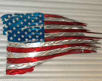 American Tattered Distressed Flag