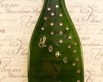 Green and Pink LOVE Bottle