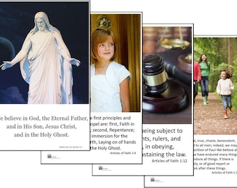 Articles of Faith Cards - LDS Primary