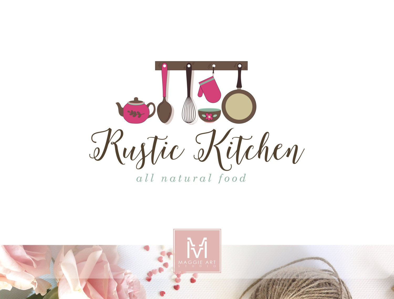 Kitchen Logo Food Logo Design Boutique Logo Rustic Kitchen