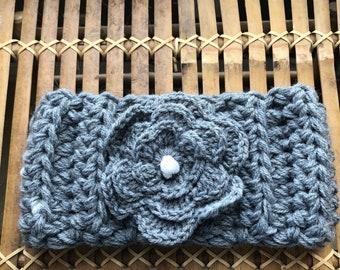 Hand Crochet Flower Headband