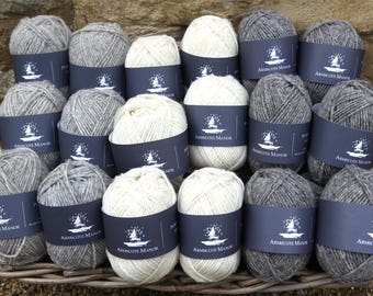 50g ball of Double Knitting Portland Wool with a dash of Black Welsh Mountain Sheep Wool