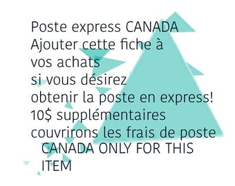 EXPRESS post add to your order to canada only